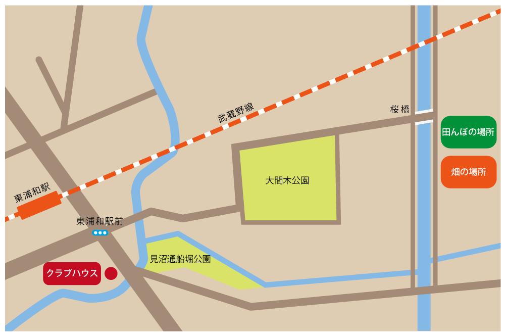 見沼田んぼ周辺地図